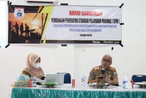 Rapat Koordinasi Pembinaan Penerapan Standar Pelayanan Minimal (SPM) Bidang Pekerjaan Umum dan Perumahan Rakyat Prov. Sulbar Tahun 2020